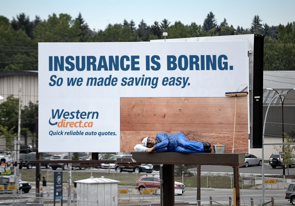 "(Outdoor) Sleeping Billboard ""Insurance is boring."" .jpg"